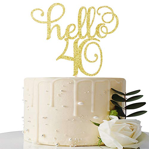 Hello 40 Cake Topper-40th Birthday/Wedding Anniversary Party Sig...