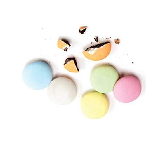 Dragees Pecou Large Chocolate Lentils, Assorted Pastel Matte - 1...