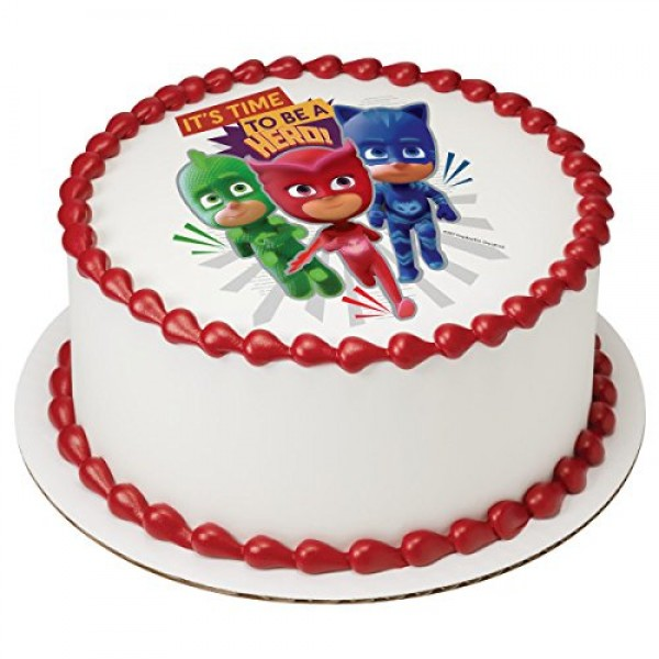 PJ Masks Its Time To Be a Hero Licensed Edible 8 Round Cake To...