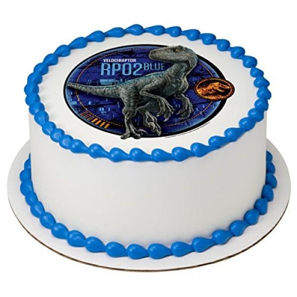 Jurassic World 2 - Blue Licensed Edible 8 Round Cake Topper #44523
