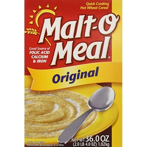 Malt-O-Meal, Original Hot Wheat Cereal, 36oz Box