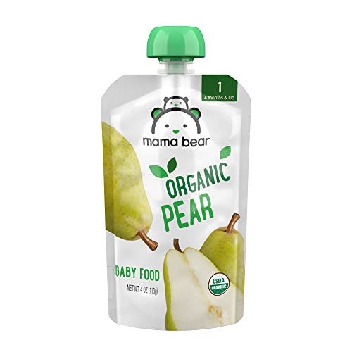 Amazon Brand - Mama Bear Organic Baby Food, Stage 1, Pear, 4 Oun...