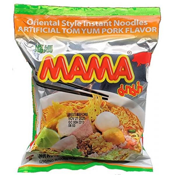 MAMA Tom Yum Pork Flavor Instant Ramen Noodles 10 Pack
