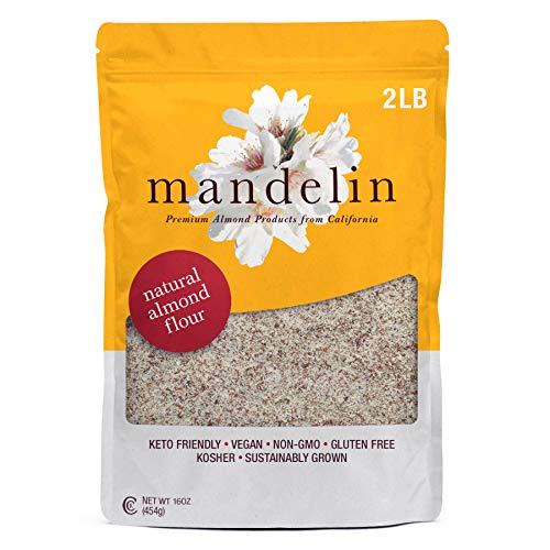 Mandelin Grower Direct Natural Unblanched Almond Flour Keto - Su...