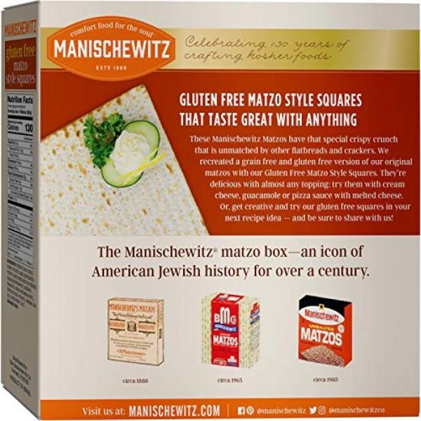Manischewitz All Natural Gluten-Free Matzo Style Squares, 10 Oun...