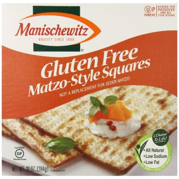 Manischewitz All Natural Gluten Free Matzo Style Squares, 10 Ounce