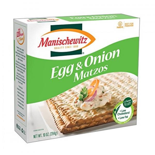 Manischewitz Egg & Onion Matzos, 10-ounce Box Pack of 3
