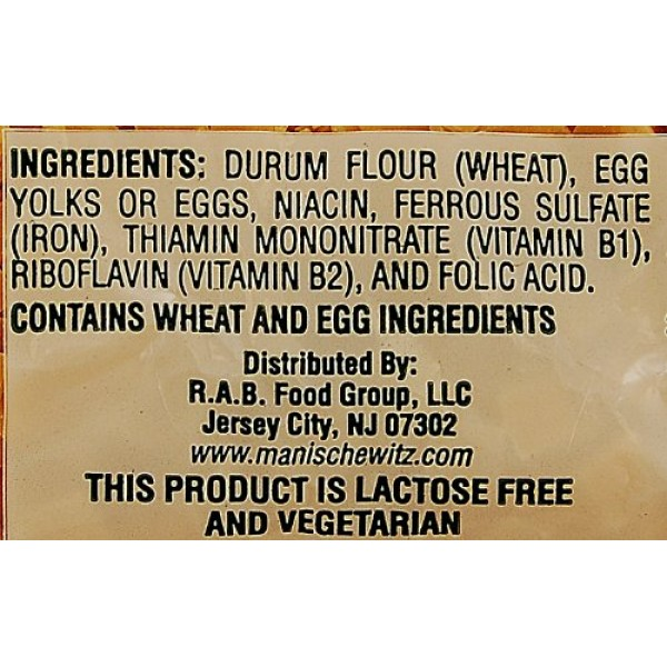 Manischewitz Egg Flakes Premium Enriched Egg Noodles 12oz Pack ...