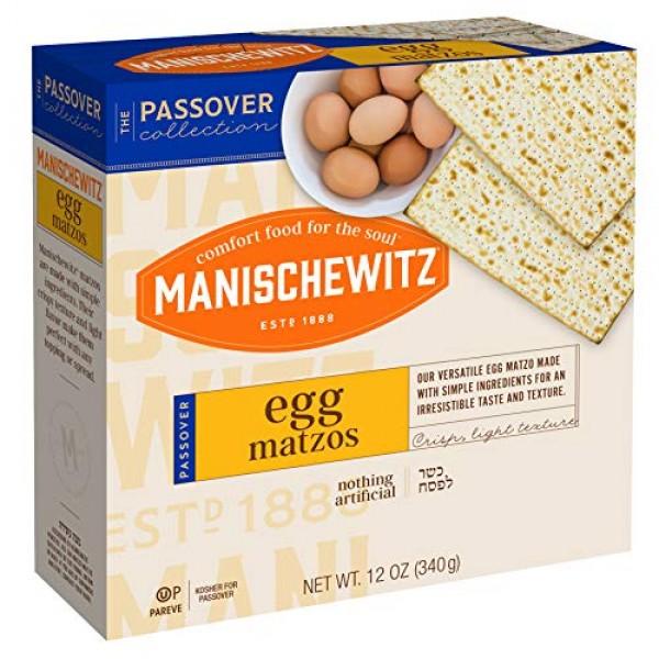 Manischewitz Egg Matzos Kosher For Passover 12 oz. Pack of 3.