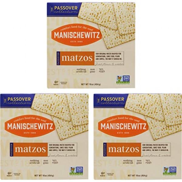 Manischewitz Kosher For Passover Matzo 3 LBS 3 Boxes
