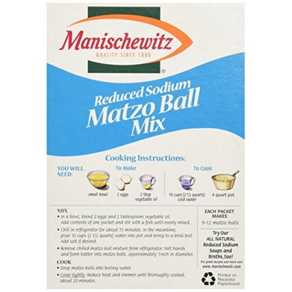 Manischewitz Matzo Ball Mix, Low Sodium, 5 Ounce