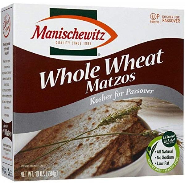 Manischewitz, Matzo Whole Wheat Passover, 10 Ounce