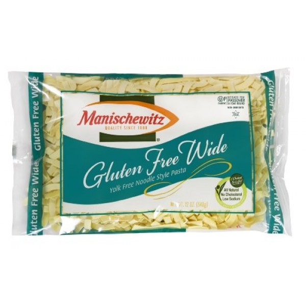 Manischewitz Noodle, Gold Wide Egg, Passover, 12-Ounce Pack of 4
