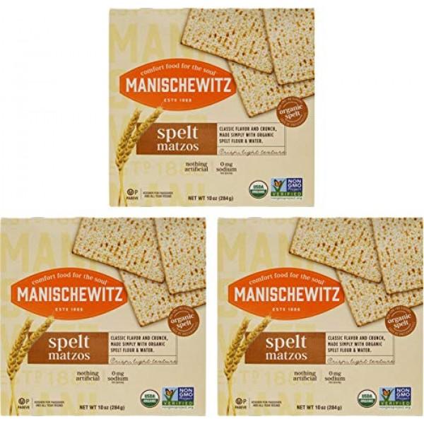 Manischewitz Organic Spelt Matzo, Kosher For Passover, 10 Ounce ...