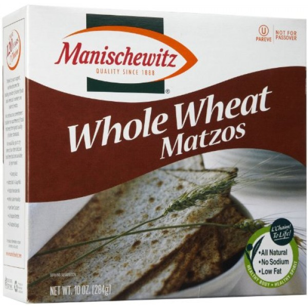 Manischewitz Whole Wheat Matzos Kosher For Passover 10 Ounce P...