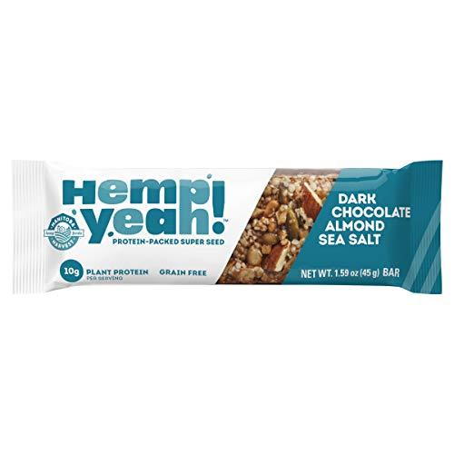 Manitoba Harvest Hemp Yeah! Bars, Dark Chocolate Almond Sea Salt...