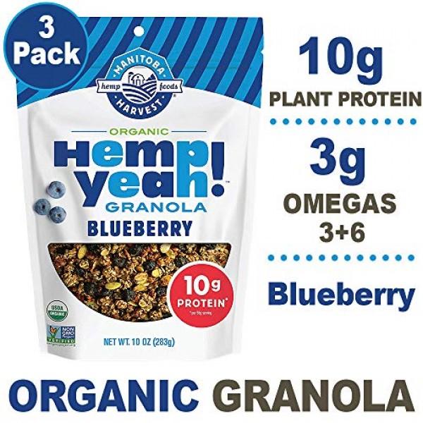 Manitoba Harvest Hemp Yeah! Granola, Blueberry, 10oz, with 10 g ...