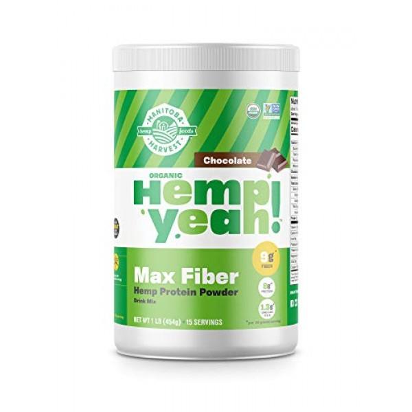 Manitoba Harvest Hemp Yeah! Organic Max Fiber Protein Powder, Ch...