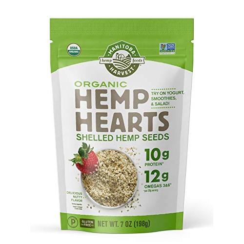 Manitoba Harvest Organic Hemp Hearts Raw Shelled Hemp Seeds, 7 O...