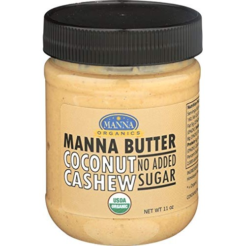 Manna Organics, Cashew Coconut Butter NSA Organic, 11 Ounce