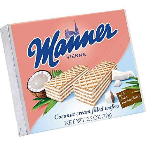 Manner Coconut Wafers, 2.54 Ounce Pack of 12