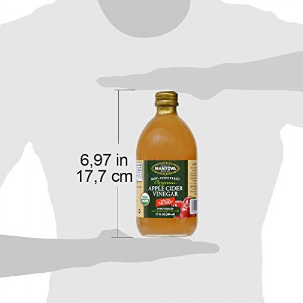 100% Raw-unfiltered Organic Apple Cider with The Mother 17 Oz ...