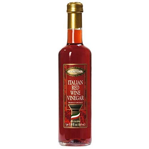 Mantova Italian Red Wine Vinegar, 17-Ounce Bottles Pack of 4