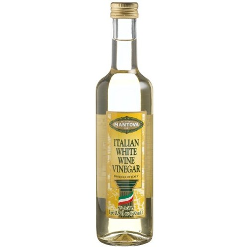 Mantova Italian White Wine Vinegar, 17-Ounce Bottles Pack of 4