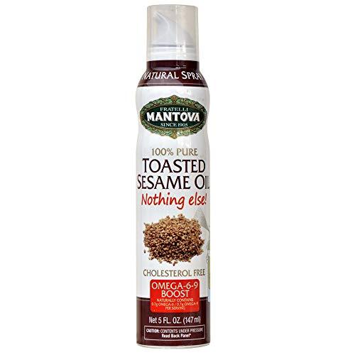 Mantova Toasted Sesame Oil Spray - Healthy Fats, Keto-Friendly, ...