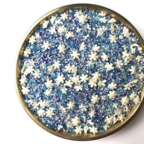 Snowflake Crystals Sanding Sugar   Sprinkles   Snowflake Sprinkl...