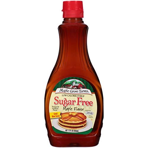 Maple Grove Farms, Syrup, Sugar Free, Maple Flavor, 12 Ounce (Pa...