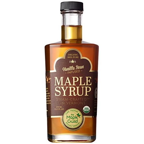 Maple Guild Organic Vanilla Bean Infused Vermont Syrup, 12.7 Ounce