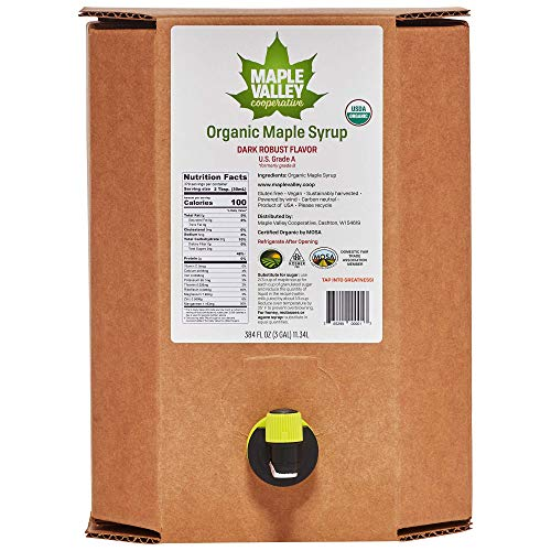Maple Valley Organic Maple Syrup Grade A Dark Robust formerly g...