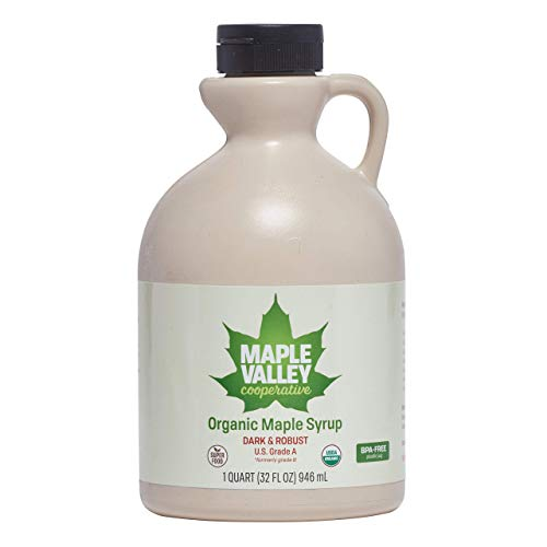 Maple Valley Pure Organic Maple Syrup 32 Oz. Grade A Dark Robust...