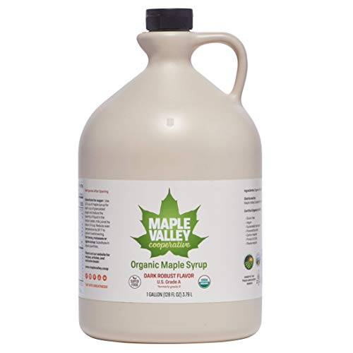 Maple Valley 128 Oz. Gallon Organic Maple Syrup - Grade A Dark...