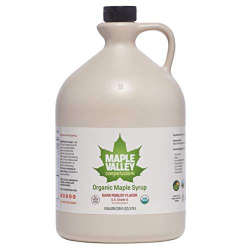 Maple Valley 128 Oz. (Gallon) Organic Maple Syrup - Grade A Dark...