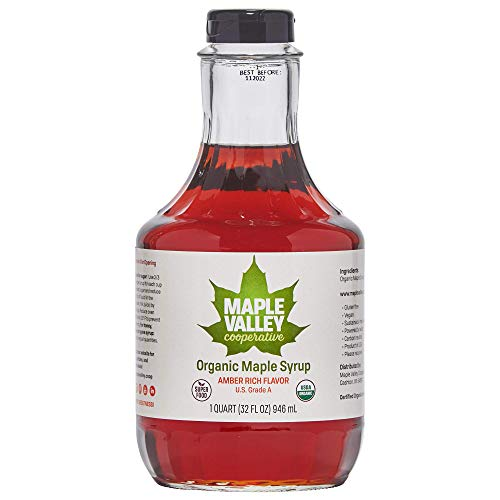 Maple Valley 32 Oz. Organic Maple Syrup - Grade A Amber Rich in ...