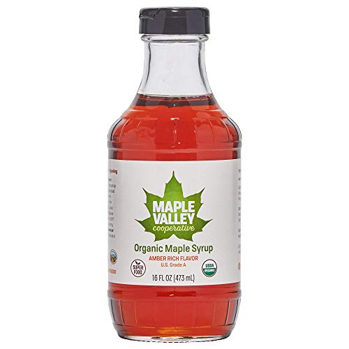 Maple Valley 16 Oz. Organic Maple Syrup - Grade A Amber Rich in ...