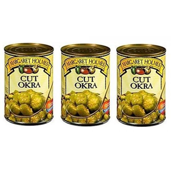 Margaret Holmes Cut Okra Pack of 3 14.5 oz Cans