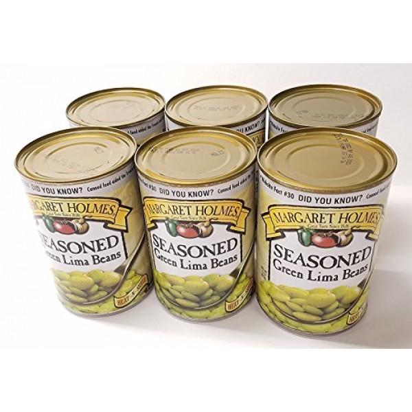 Margaret Holmes, Medium Seasoned Green Lima Beans, 15oz Can Pac...