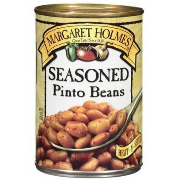 Margaret Holmes Seasoned Pinto Beans, 15 oz Pack of 6