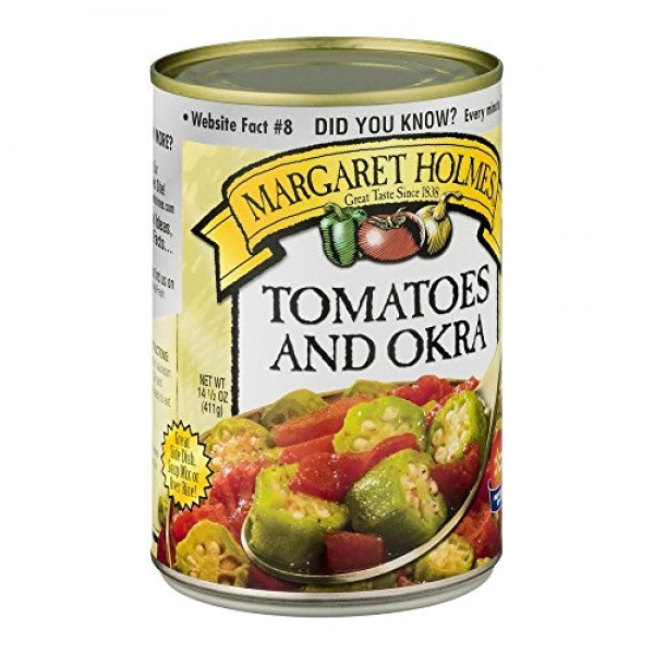 Margaret Holmes, Tomatoes & Okra, 14.5oz Can Pack of 6