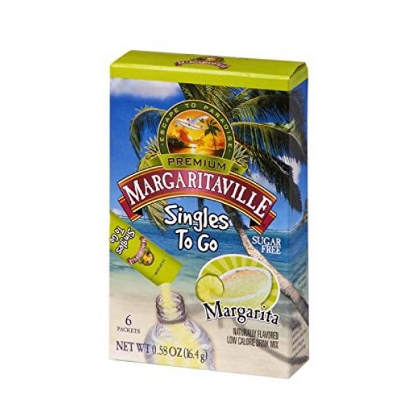 Margaritaville Singles To Go Water Drink Mix - Margarita Flavore...