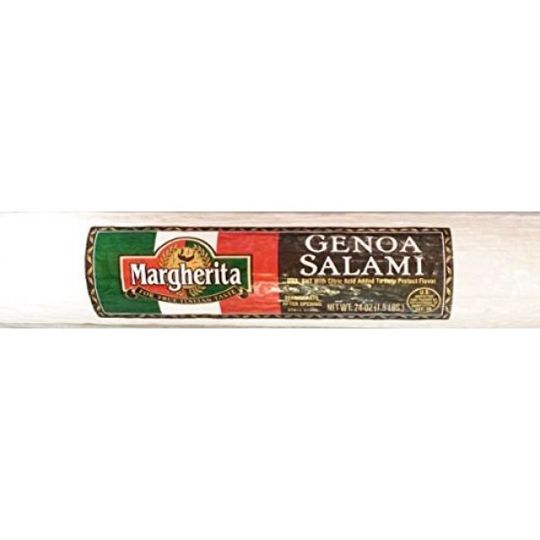 24oz Margherita Genoa Salami Chub for True Italian Taste Salami ...