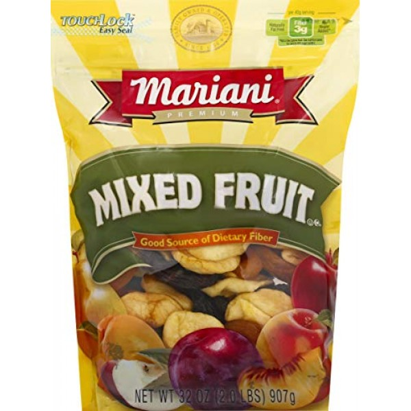 Mariani, Dried Mixed Fruit, 32oz Bag Pack of 2