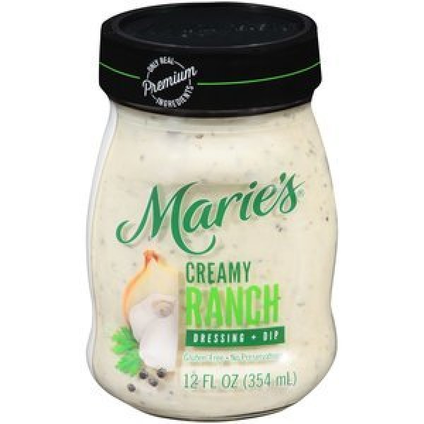 Maries refrigerated salad dressing creamy ranch 12 oz pack of 3