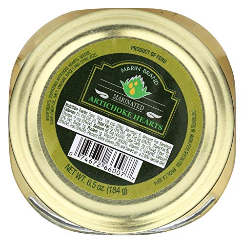 Marin Food Marinated Artichoke Heart, 6 Ounce - 12 per case.