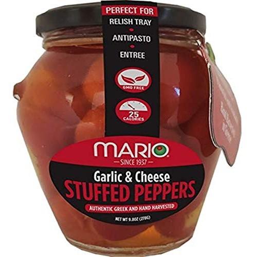Mario Camacho Foods Garlic & Cheese Stuffed Cherry Peppers, Garl...