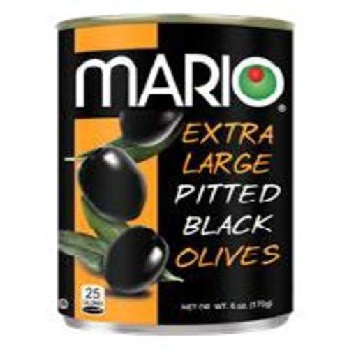 Mario Camacho Foods Pitted Large Black Olives Pack of 12