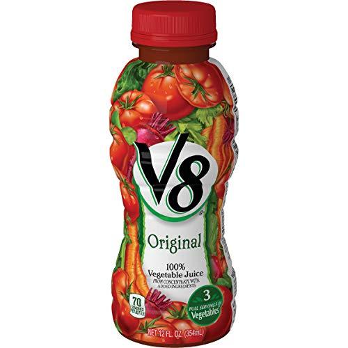V-8 Juice, 3 Full Serving of Vegetables, 12 oz. Pack of 12
